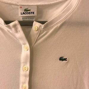 Lacoste Tops - EUC Lacoste Lightweight Pique Henley